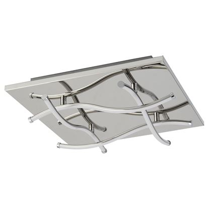 MODERN 4 LIGHT LED CEILING SQUARE FLUSH, CHROME 7774-4CC