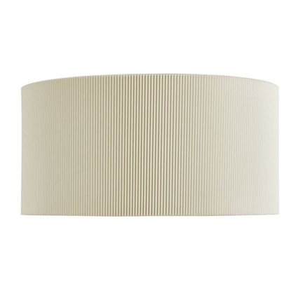 DRUM PLEAT 2 LIGHT CURVED WALL BRACKET WITH CREAM SHADE DIFFUSER 3462-2CR