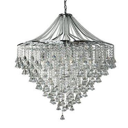 Searchlight 3497-7CC Dorchester 7 Light Crystal Ceiling Light Polished Chrome