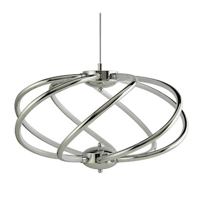 SEARCHLIGHT BARDOT CHROME, 7 LED LIGHT CURVED ARM PENDANT, ADJUSTABLE HEIGHT 6500-7CC