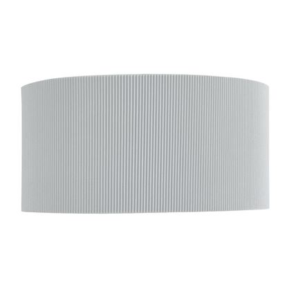 DRUM PLEAT 2 LIGHT CURVED WALL BRACKET WITH SILVER SHADE DIFFUSER 3462-2SI