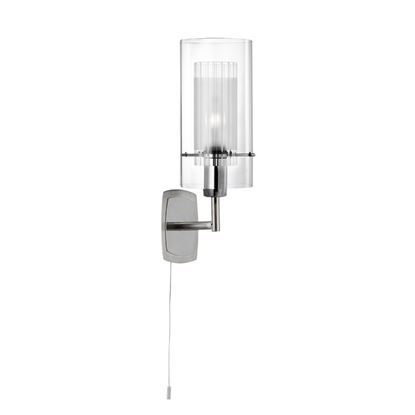 DUO 1 CHROME WALL LIGHT WITH DOUBLE GLASS CYLINDER SHADE 2300-1