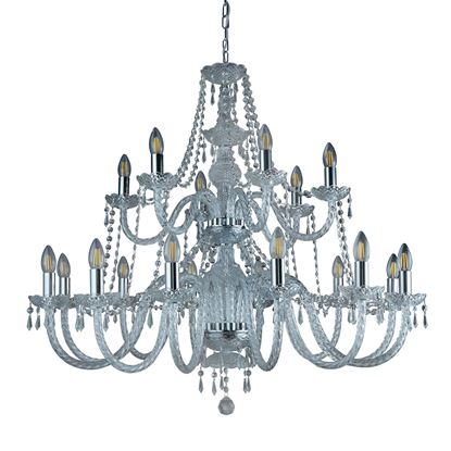 HALE CHROME 18 LIGHT CHANDELIER WITH CRYSTAL TRIMMINGS 17218-18