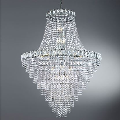 Versailles Extra Large Polished Chrome 19 Light Crystal Chandelier | 9112 102CC