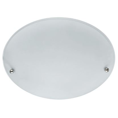 WHITE ROUND FLUSH LIGHT (30CM DIA) WITH FROSTED GLASS SHADE 3165-30