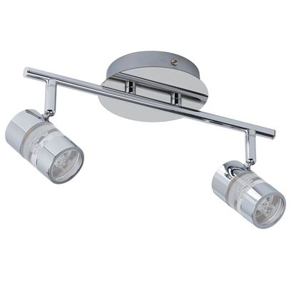 BUBBLES IP44 CHROME 2 LED SPOTLIGHT BAR/BATHROOM USE. 4412CC