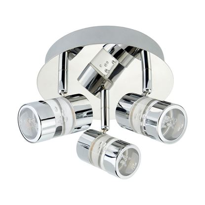 BUBBLES IP44 CHROME 3 LED CEILING SPOTLIGHT ACRYLIC BUBBLES. BATHROOM USE. 4413CC
