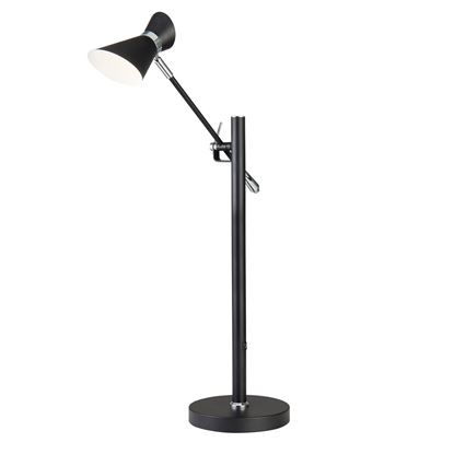 DIABLO MATT BLACK, CHROME & WHITE INSIDE, LED TABLE LAMP 5961BW