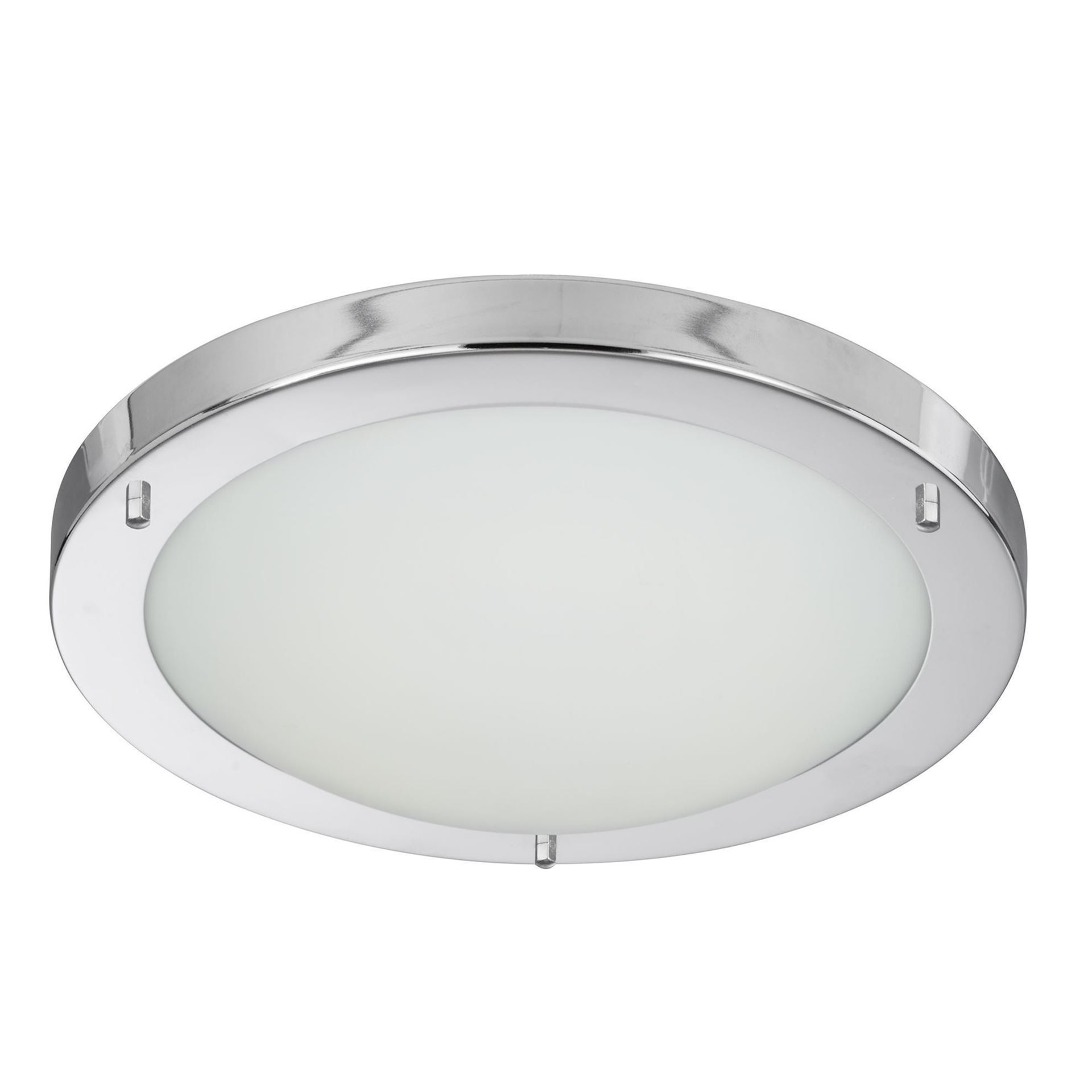 CHROME FLUSH FITTING, OPAL GLASS, 12W 8702CC