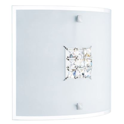 QUADREX SQUARE FLUSH (30AM DIA) LIGHT WITH SQUARE CRYSTAL WINDOWS 2150-30