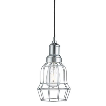 CHROME BELL CAGE PENDANT LIGHT 6847CC