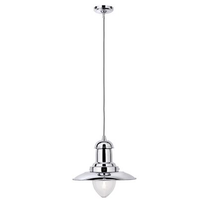 FISHERMAN CHROME LIGHT WITH CLEAR GLASS SHADE 4301CC
