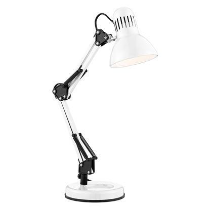 SHINY WHITE HOBBY TABLE LAMP ADJUSTABLE 2429WH