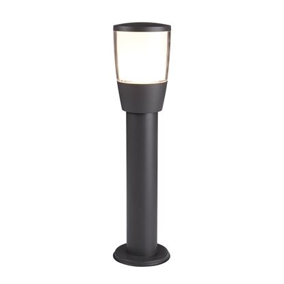 DARK GREY TUSCON ALUMINIUM TUCSON OUTDOOR 1 POST LIGHT, POLYCARBONATE 0598-450GY