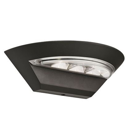 LED IP44 GREY MISSISSIPPI SEMI-CIRCLE DIE CAST ALUMINIUM OUTDOOR WALL LIGHT 5122GY
