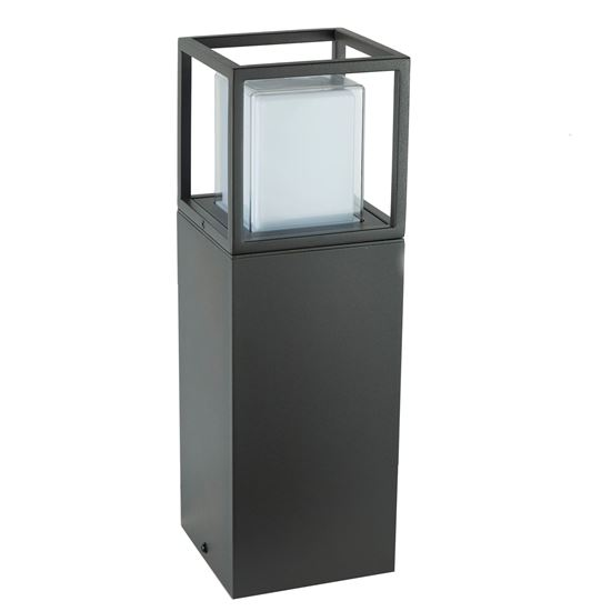OUTDOOR OHIO  LED POST LAMP, DARK GREY, WHITE/CLEAR POLYCARBONATE DIFFUSER 3843-450GY