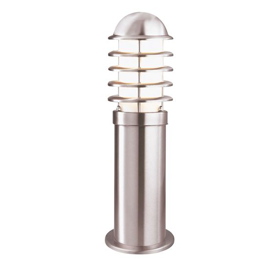 STAINLESS STEEL IP44 OUTDOOR BOLLARD LIGHT WITH POLYCARBONATE DIFFUSER 052-450