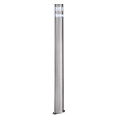 STAINLESS STEEL INDIA IP44 24 LED OUTDOOR POST LIGHT WITH CLEAR POLYCARBONATE DIFFUSER 5304-900