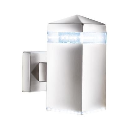 STAINLESS STEEL IP44 LED OUTDOOR WALL LIGHT WITH CLEAR DIFFUSER 7205