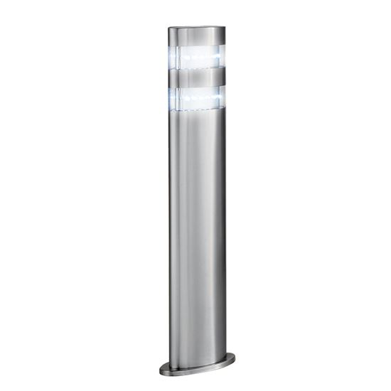 STAINLESS STEEL INDIA IP44 24 LED OUTDOOR POST LIGHT WITH CLEAR POLYCARBONATE DIFFUSER 5304-450