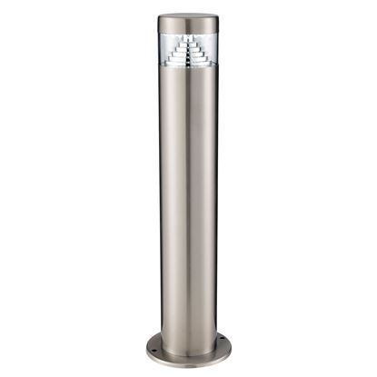 STAINLESS STEEL BROOKLYN IP44 30 LED OUTDOOR POST LIGHT WITH CLEAR POLYCARBONATE DIFFUSER 8508-450