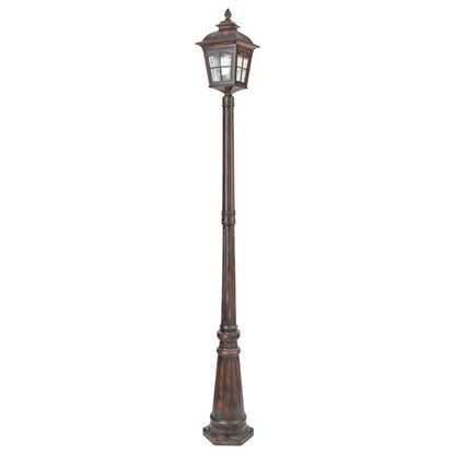 POMPEII BROWN STONE ALUMINIUM IP44 OUTDOOR POST LIGHT 1574BRPOMPEII BROWN STONE ALUMINIUM IP44 OUTDOOR POST LIGHT 1574BR