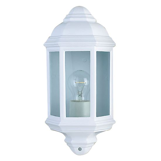 WHITE IP44 CAST ALUMINIUM OUTDOOR FLUSH LIGHT WITH CLEAR GLASS 280WH