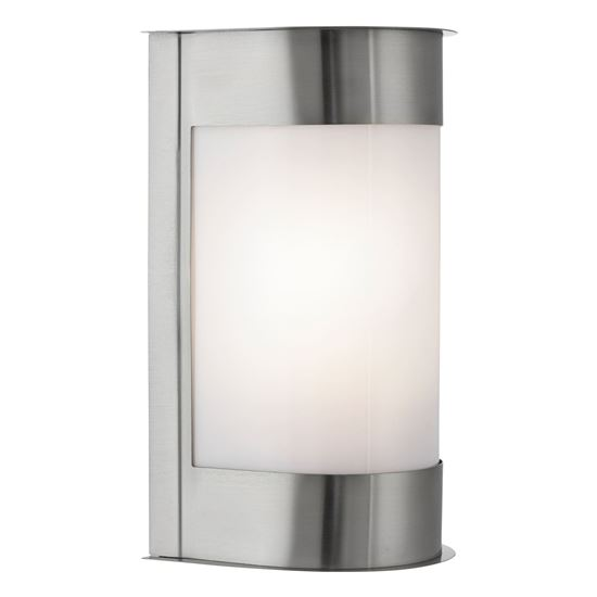 STAINLESS STEEL OUTDOOR IP44 CURVED LIGHT WITH POLYCARBONATE DIFFUSER W/B 4126SS