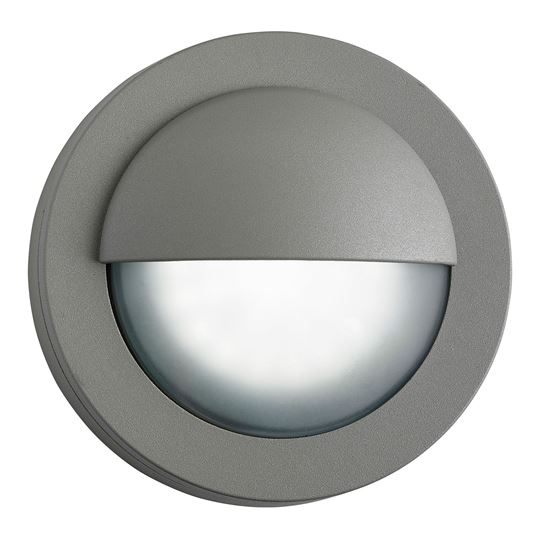 IP44 DIE CAST ALUMINIUM GREY 18 LED OUTDOOR WALL LIGHT WITH ACID GLASS 1402GY