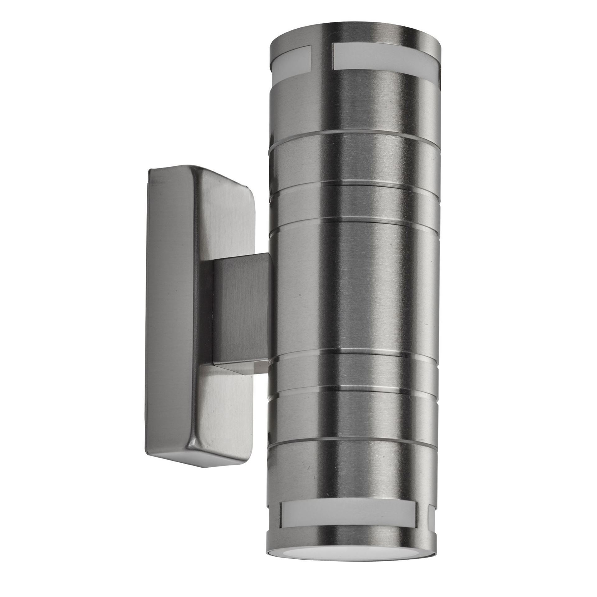 LED IP44 STAINLESS STEEL 2 LIGHT OUTDOOR WALL LIGHT WITH GU10 2018-2-LED