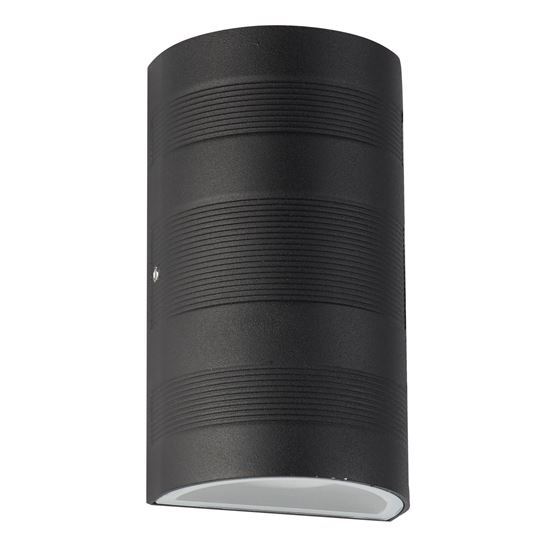 OUTDOOR UP/DOWN LED CURVED WALL BRACKET, BLACK 7941BK