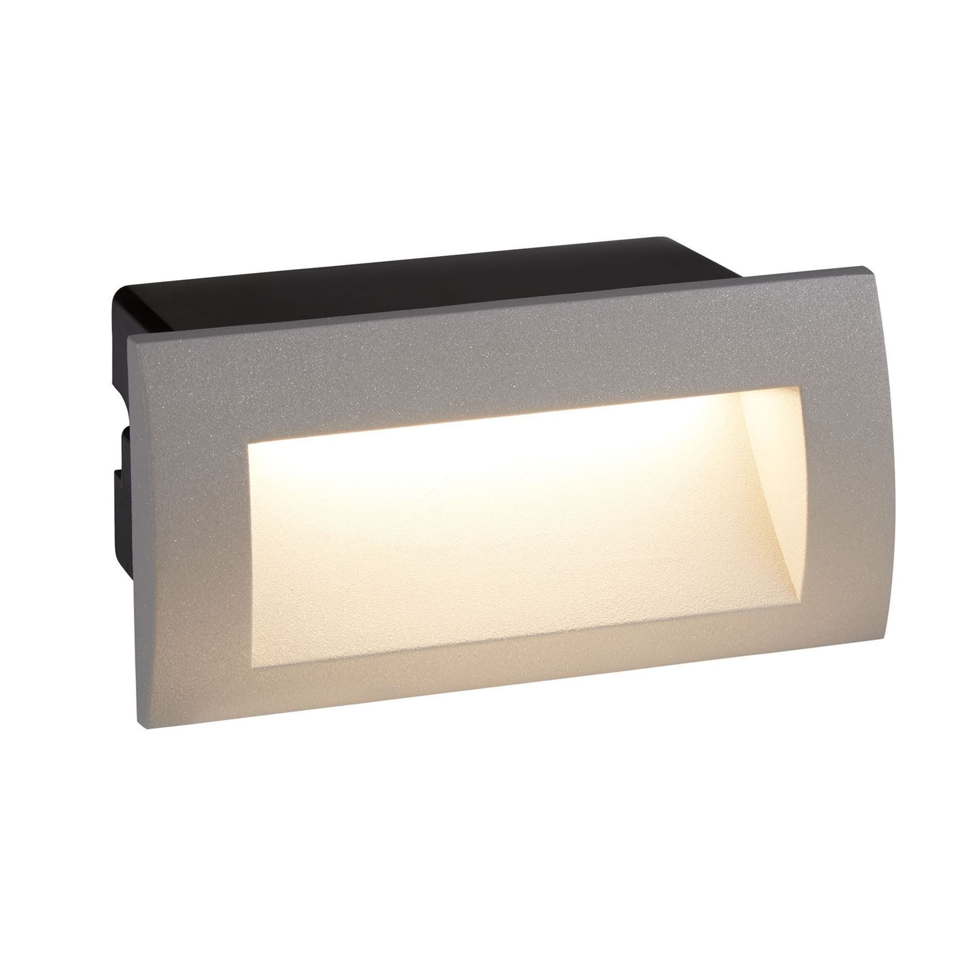 DIE CAST ALUMINIUM LED INDOOR/OUTDOOR RECESSED RECTANGLE, WB GREY 0662GY
