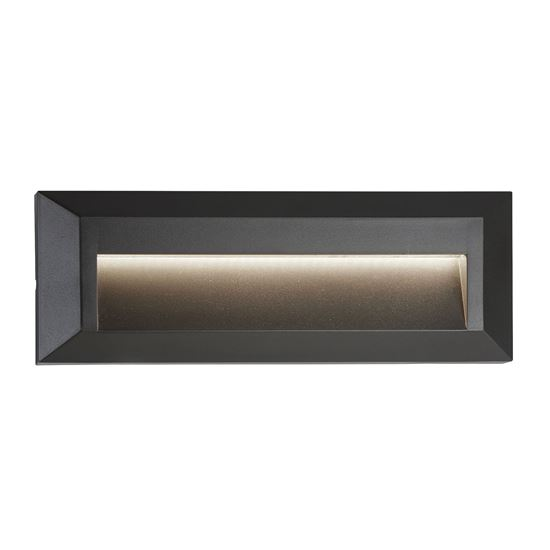 OUTDOOR 1 LIGHT LED SLOT WALL LIGHT, DARK GREY ANKLE 8732GY
