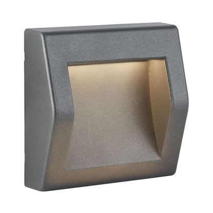 DIE CAST ALUMINIUM IP54 OUTDOOR LARGE LED DARK GREY WALL LIGHTS 0232GY