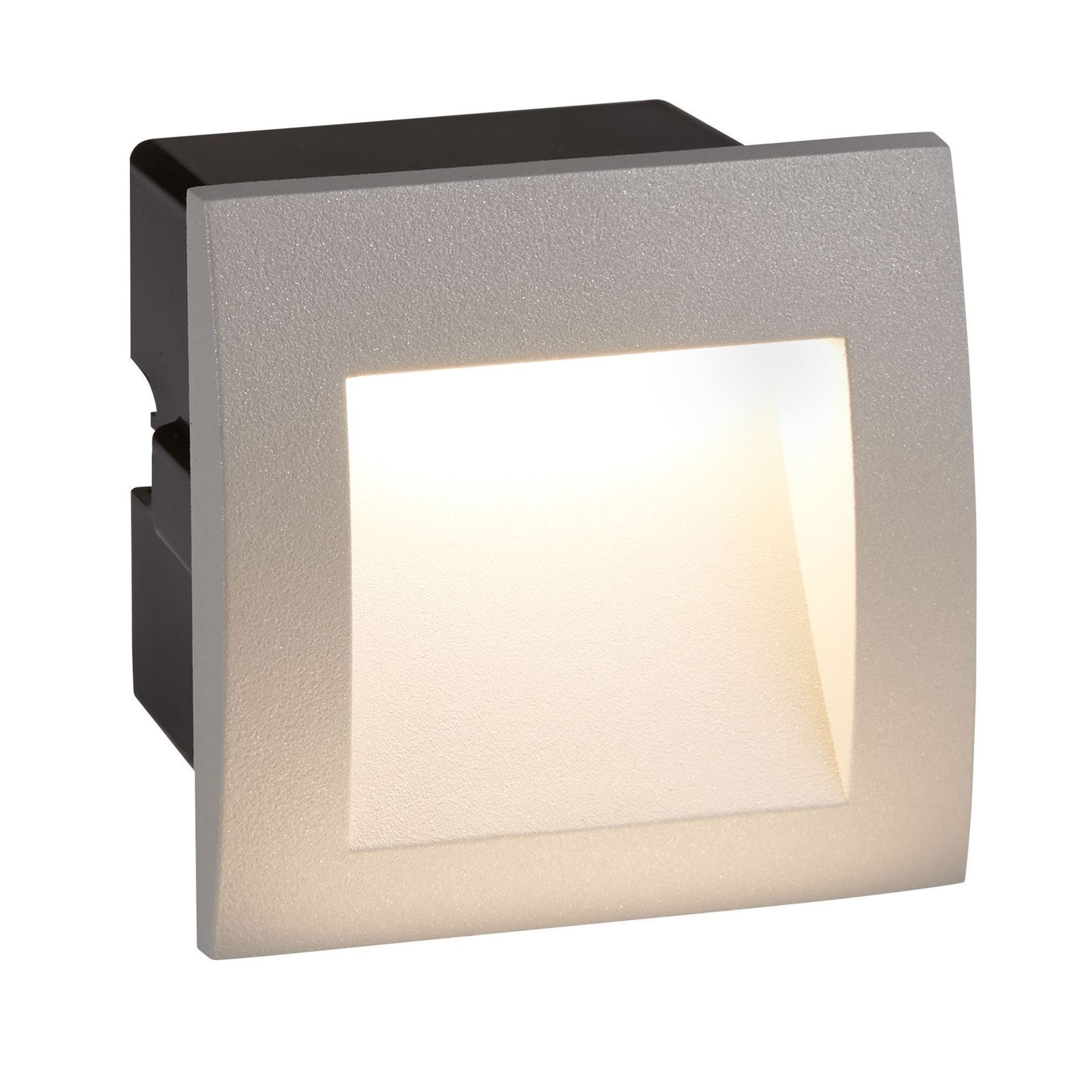 DIE CAST ALUMINIUM LED INDOOR/OUTDOOR RECESSED SQUARE, WB GREY 0661GY
