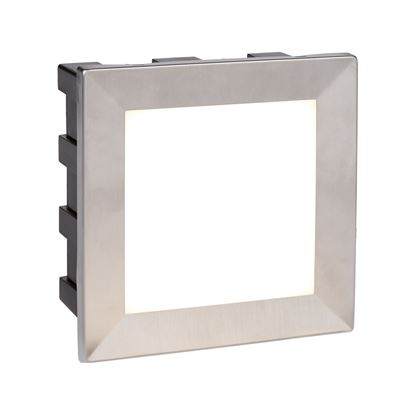 WALL LED INDOOR/OUTDOOR RECESSED SQUARE, OPAL WHITE POLYCARBONATE DIFFUSER 0763