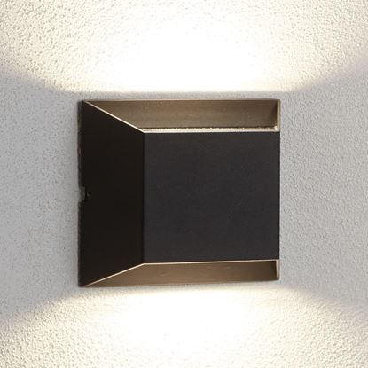 DIE CAST ALUMINIUM LED OUTDOOR 2 LIGHT WALL BRACKET, BLACK 5111BK