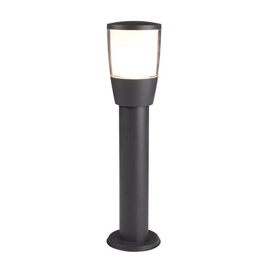 DARK GREY ALUMINIUM TUCSON OUTDOOR 1 POST LIGHT, POLYCARBONATE 0598-450GY