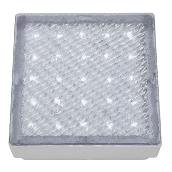 STAINLESS STEEL IP68 25 LED RECESSED SQUARE WALKOVER WITH WHITE LED LIGHT 9913WH