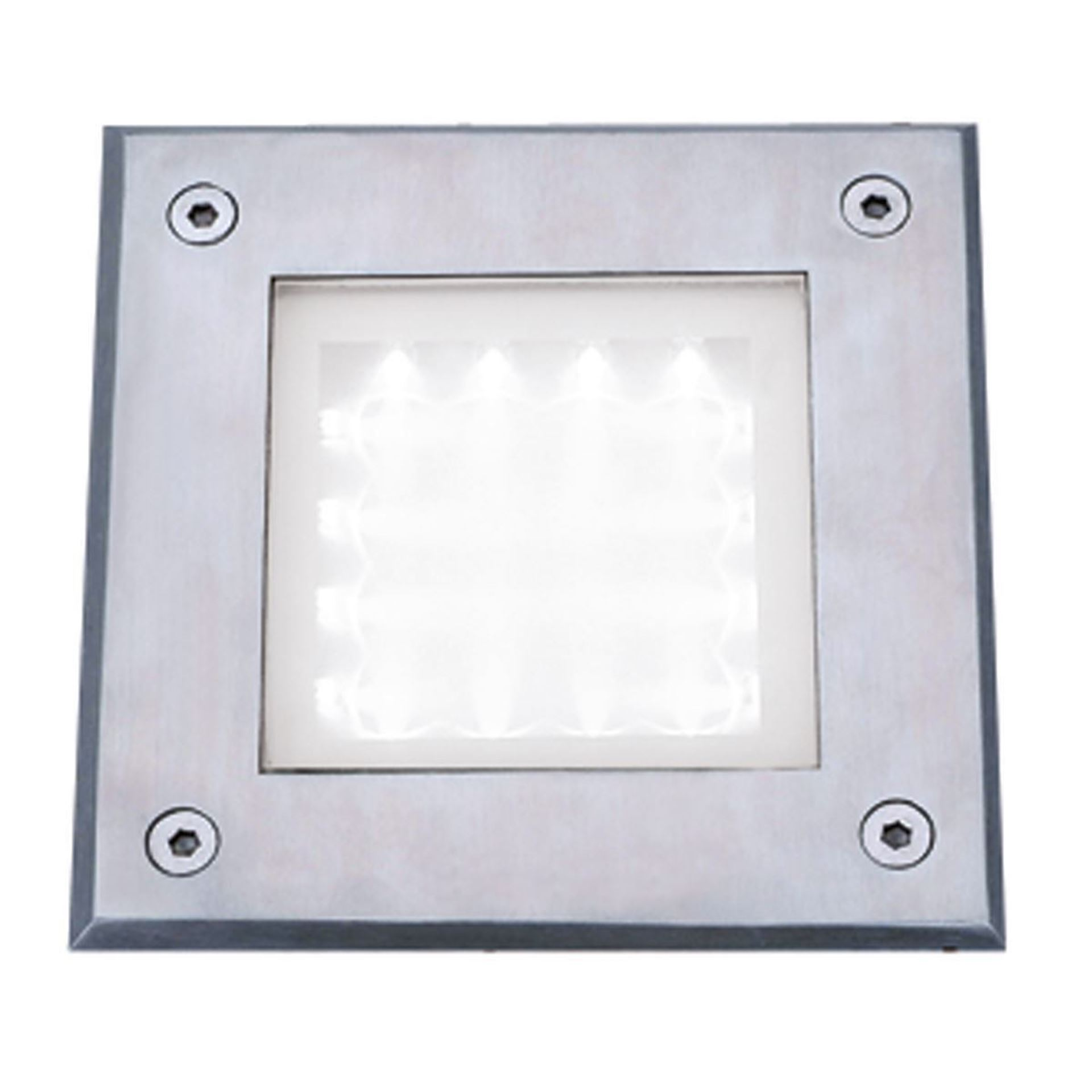 STAINLESS STEEL IP68 16 LED RECESSED SQUARE WALKOVER WITH WHITE LED LIGHT 9909WH