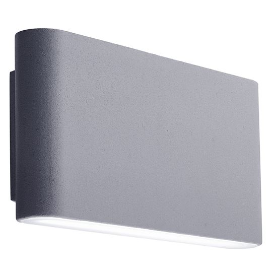 GREY ALUMINIUM LED IP44 OUTDOOR WALL LIGHT FROSTED POLYCARBONATE SHADE 2562GY