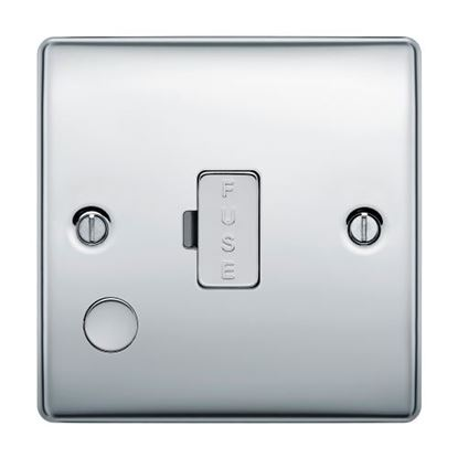 BG Nexus Metal Polished Chrome 13A Unswitched Spur Flex Outlet NPC55