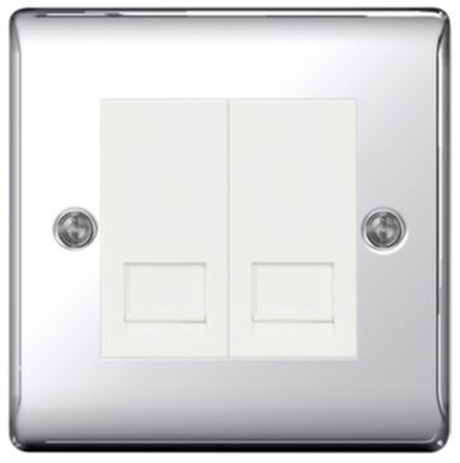 BG Nexus Metal Polished Chrome Double Master BT Socket NPCBTM2