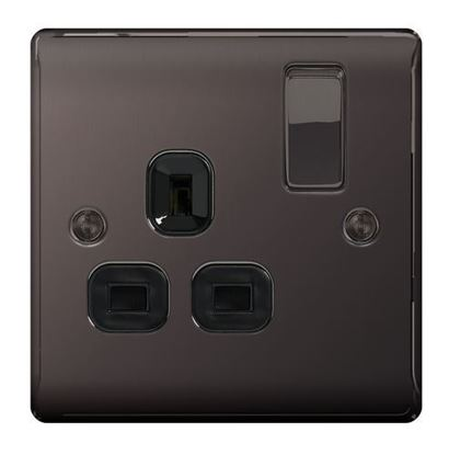 BG Nexus Metal Black Nickel Single Socket Black Insert NBN21B