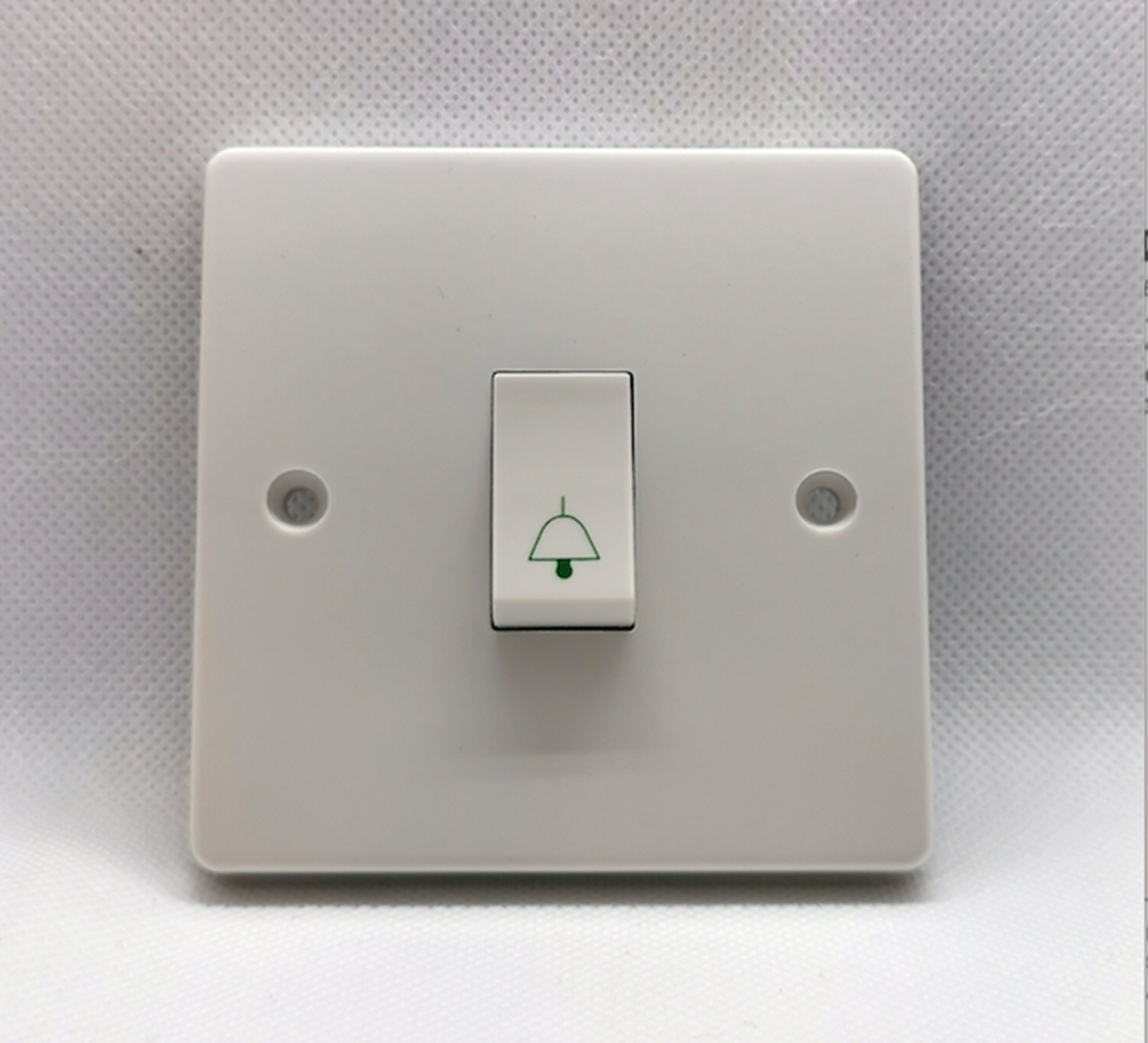 4096/B 6A 1 GANG 1 WAY RETRACTIVE SWITCH PRINTED WITH BELL SYMBOL