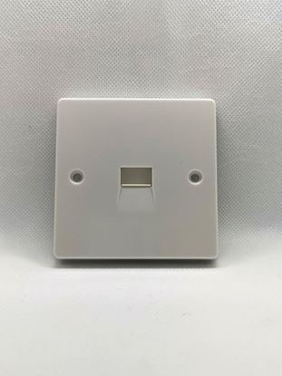 Crabtree 7284 Capital White Moulded Single BT Secondary Telephone Socket