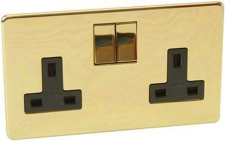 Picture for category Crabtree platinum polished brass socket switches