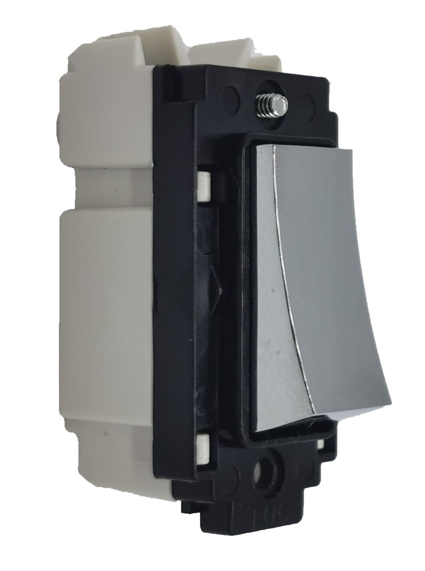 Crabtree 4553/7HPC 10A 2 Way and Off Retractive Switch Module Polished Chrome