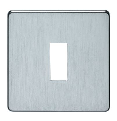 Crabtree 7711/HPC 1 Gang Grid Faceplate Polished Chrome