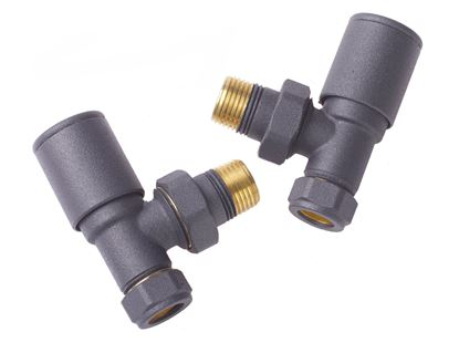 Round Angled Anthracite Valve (Pair) AMA805A